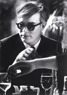 Andy Warhol at Table | Dennis Hopper; 1963