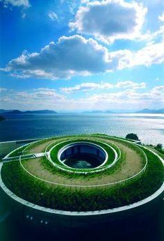 My favourite hotel  Benesse House Museum/Hotel, Naoshima Contemporary Art Island by Tadao Ando Architect :: Oval
