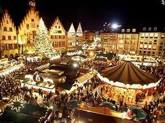 Frankfurt, Germany.  Christmas markets in Frankfurt are stunning. Everyone should go to a traditional German Christmas market at least once!