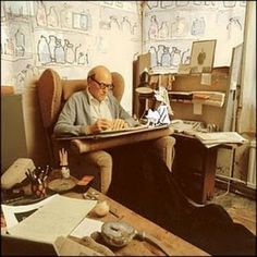 Writers Writing Spaces   Writing Desks of Famous Authors: Roald Dahl