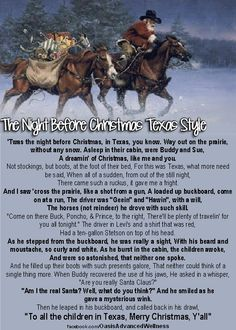The Night Before Christmas Texas Style