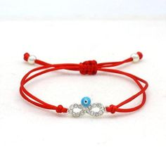 Cute Evil Eye Handmade Bracelet-Bracelets-Cute Bear-Red and Silver Cheap Bracelets, Cute Bracelets, Handmade Bracelets, Beaded Bracelets, Diamond Bracelets, 16th Birthday Gifts For Best Friend, Best Friend Gifts, Charm Jewelry, Jewelry Gifts