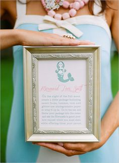 See the mermaids bridal shower here.  Photo by White Loft Studio via The Wedding Chicks