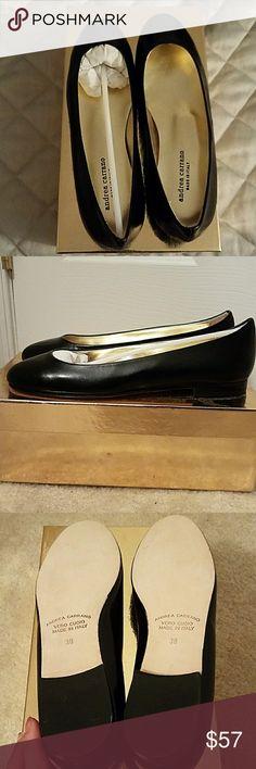 NIB Andrea Carrano Italian leather black flats 38 Black flats in real soft Italian leather andrea carrano Shoes Flats & Loafers