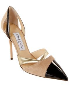Jimmy Choo Marcine Patent Suede & Mirror Leather Pump