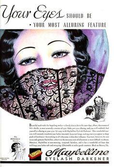 18 Ideas For Vintage Makeup Ads Retro Advertising Make Up 1930s Makeup, Vintage Makeup Ads, Retro Makeup, Vintage Vanity, Vintage Beauty, Vintage Ads, Vintage Labels, Vintage Designs, Old Advertisements