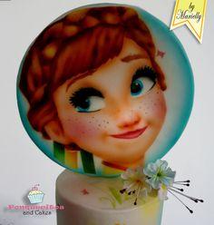 Airbrush Cake: Anna by Marielly Parra