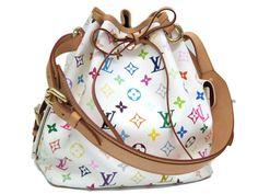 b084a46b0d4a Louis Vuitton Petit Noe Shoulder Bag Monogram MulticWhite M42229(BF054102)