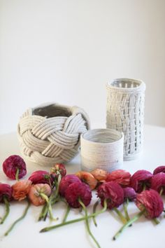 DIY rope vases: http://www.stylemepretty.com/living/2015/07/20/do-it-quick-projects-to-add-to-your-weekend-agenda/