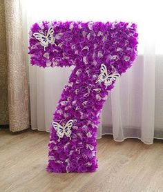 DIY Make your own life-size cardboard numbers, for weddings and birthday or party Baby Girl Birthday Theme, Girl Birthday Decorations, Birthday Diy, Birthday Party Decorations, Birthday Parties, Butterfly Garden Party, Butterfly Birthday Party, Mermaid Birthday, Paper Flower Decor