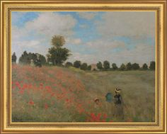 """Claude Monet """"The Poppies"""" painting replica  71 x 58 cm / $524 incl.20% VAT and Shipping / Click http://mondialart.co.uk/product/the-poppies-g/ #art #painting #mondialart #replica"""