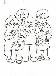 Family Coloring Pages, Colouring Pages, Coloring For Kids, Coloring Books, Preschool Family Theme, Family Crafts, Preschool Activities, Art Drawings For Kids, Drawing For Kids