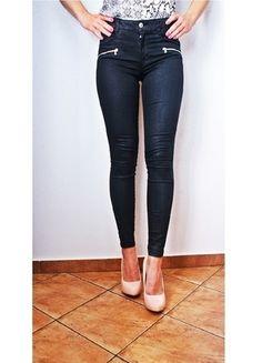 Kup mój przedmiot na #vintedpl http://www.vinted.pl/damska-odziez/rurki/14311650-zara-skinny-slim-xs-woskowane-zipy