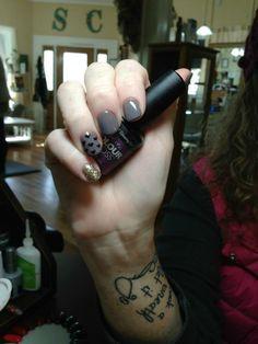 Grey gel manicure. Artistic Gel Polish