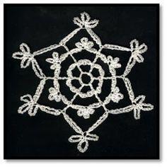 BRENDAS DESIGNS 1961: April: Free Crochet Snowflake Pattern