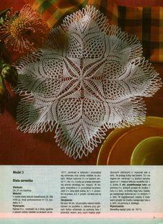 Kira knitting: Scheme knitted tablecloths 8