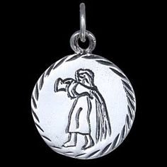 Silver pendant, star-signs, virgo Silver pendant, Ag 925/1000 - sterling silver. Diameter approx. 15mm.
