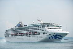 Princess Cruises' Sea Princess has just emerged from a two-week dry dock in Singapore where she is looking glamorous ahead of her homeporting season in Aus Ship Tracker, World Cruise, Princess Cruises, Singapore, Ocean, Boat, Cruise Ships, Travel, Holidays