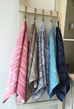 Soft and lovely towels for the bathroom. Five colors and three sizes available…