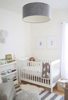 Decoração para um quarto de bebê simples e bonito