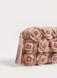 Leather crossbody bag with flowers - We are your Valentine - Uterqüe United Kingdom