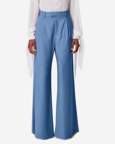 Crea Concept Ladies Designer Wide Leg Woven Smart /& Comfortable Lined Trousers