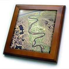 "Alaska, ANWR. Tundra landscape, winding river - US02 GJE0106 - Gavriel Jecan - 8x8 Framed Tile by 3dRose. $22.99. Keyhole in the back of frame allows for easy hanging.. Dimensions: 8"" H x 8"" W x 1/2"" D. Inset high gloss 6"" x 6"" ceramic tile.. Cherry Finish. Solid wood frame. Alaska, ANWR. Tundra landscape, winding river - US02 GJE0106 - Gavriel Jecan Framed Tile is 8"" x 8"" with a 6"" x 6"" high gloss inset ceramic tile, surrounded by a solid wood frame with pre-drille..."