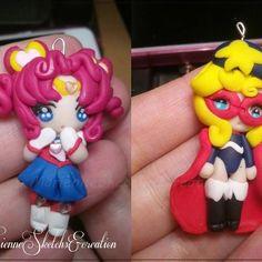 Sailor Chibi Chibi & La Seine no Hoshi HandMade Polymer Clay Marienne Sketches & Fimo Creations