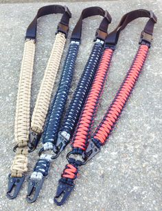 1 and 2 point 550 paracord Rifle slings by FlipsTactical550Gear