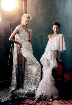Kasia Struss, Jourdan Dunn, Caroline Trentini and Miranda Kerr by Norman Jean Roy for Vogue US February 2013