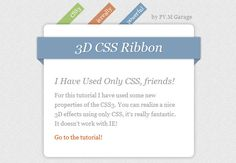 How To Create Depth And A Nice 3D Ribbon Only Using CSS3