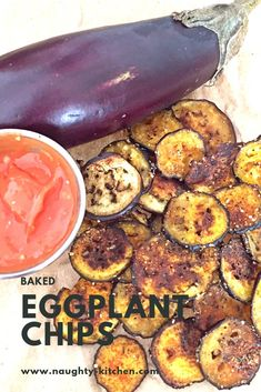 Drop those Potato Chips from your fingers now! Don't you want something different to munch on any way?? Well, inhale these crunchtorious Baked Eggplant Chips #vegetarian #vegan #healthysnacks Heart Healthy Recipes, Gourmet Recipes, Healthy Snacks, Vegetarian Recipes, Gourmet Foods, Snack Recipes, Clean Eating Snacks, Healthy Eating, Eggplant Chips