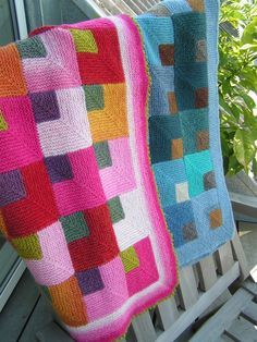 Sewing Blankets Baby Blanket Knitting Pattern - Online yarn store for knitters and crocheters. Designer yarn brands, knitting patterns, notions, knitting needles, and kits. Shop online or call Knitted Afghans, Knitted Baby Blankets, Crochet Blanket Patterns, Knitting Patterns, Afghan Crochet, Patchwork Patterns, Quilt Pattern, Crochet Home, Knit Or Crochet