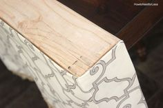 How to Make a Board Mounted Valance - How to Nest for Less™ Window Cornice Diy, Window Cornices, Valance Window Treatments, Window Treatments Living Room, Bedroom Valances, Dining Room Curtains, Diy Curtains, Kitchen Cornice, Kitchen Window Valances