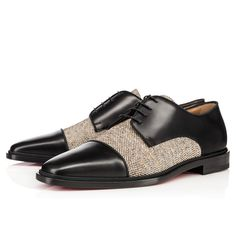 Men Shoes - Bruno Orlato Flat Calf/ Tweed - Christian Louboutin