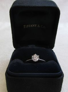 Tiffany and Co Platinum Diamond Engagement Ring .62ct Round Ideal Solitare | Jewelry & Watches Engagement & Wedding Engagement Rings | eBay! #rounddiamondengagementrings #weddingring