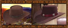 Exclusive! Stetson (4X) Genuine Buffalo Fur Revenger Old West Circle Star Cut-Out Hat- Spaghetti Western Hat!