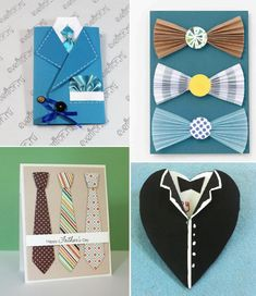 You can't go wrong with a shirt and tie as Father's Day gifts. Why not surprise Dad with a little creativity and capture the iconic gifts in a homemade Father's Day card.