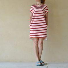 red striped Inari tee dress