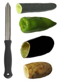 Better Houseware Zucchini Corer:  Great for stuffed zucchini, peppers and potatoes.