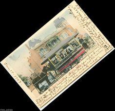 tr141 RAPID TRANSIT ONTARIO 1895 Mule Line Street Car 1907 Postcard dbl canceled