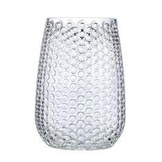 Clear Glass Bubble Vase