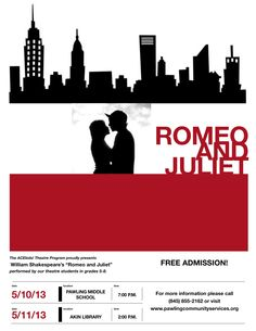 Poster For Our Romeo And Juliet
