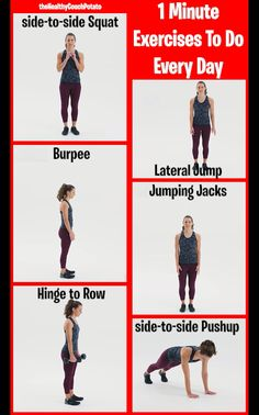 1 Minute Exercises For Daily Weight Loss 2020 1 Minute Exercises For Daily Weight Loss Full body easy to do workouts to lose weight at home Squat Workout, Gym Workout Tips, Workout Videos, Best Pre Workout Food, Workout Challenge, After Workout Food, Weight Training Workouts, 30 Day Challenge, Stair Climber Workout