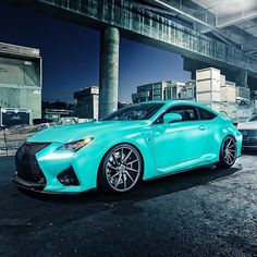 """Tiffany blue Lexus RC-F"""