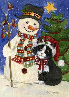 Christmas Friends by Jessica Börjesson on ARTwanted