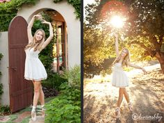 Senior portraits - ballet portraits, sun flare, on point | www.kiwiashby.com/seniors