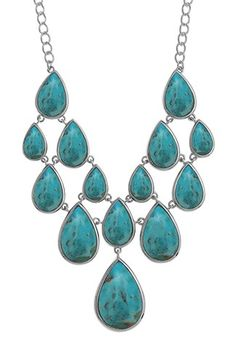 Elegant sterling silver and turquoise necklace