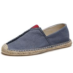 Sale 18% (23.95$) - Men Casual Hand Stitching Canvas Espadrille Loafers Flats