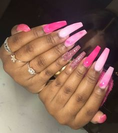 In look for some nail designs and ideas for your nails? Listed here is our listing of must-try coffin acrylic nails for stylish women. Coffin Nails, Stiletto Nails, Pink Coffin, Glitter Nails, Dope Nails, My Nails, Nails On Fleek, Gorgeous Nails, Pretty Nails